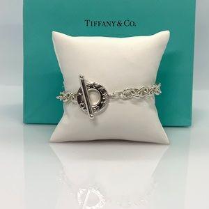 "Tiffany & Co. Sterling silver Toggle Bracelet 7"""